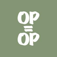 OP=OP Raamstickers
