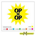 Op=Op raamsticker