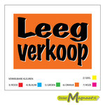 leegverkoop stickers raamstickers