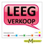 leegverkoop stickers