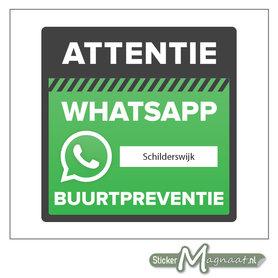 Wijkpreventie beveiliging WhatsApp stickers