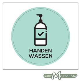 Handen Wassen Sticker (Kleur)