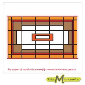 Glas in Lood Stickers - Oranje