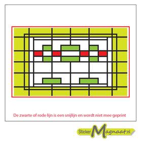 Glas in Lood Stickers - Geel - Groen