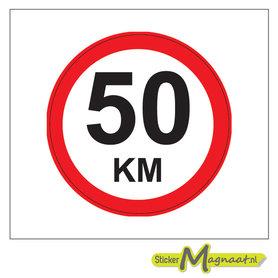 50 KM Bord Stickers