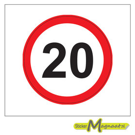 20 KM Bord Stickers