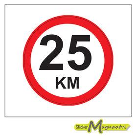 25 KM Bord Stickers