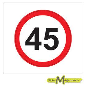 45 KM Bord Stickers