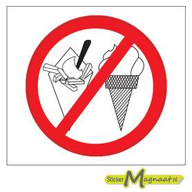 Verboden te Eten Stickers