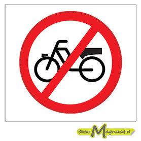 Verboden Rijwielen te plaatsen Stickers