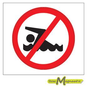 Verboden te Zwemmen Stickers