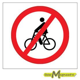 Verboden te Fietsen Stickers