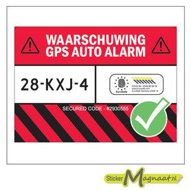 Auto Beveiligingsticker