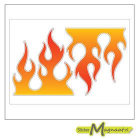 Fiets sticker vlam
