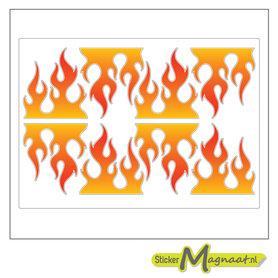 Sticker vlammen fiets