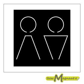 Toilet deurstickers