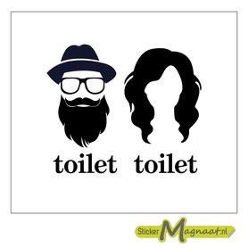Toiletsticker zwart wit