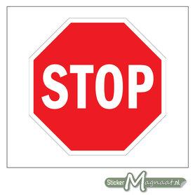 Stop bord Sticker