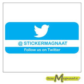 Twitter Stickers met Bedrijfsnaam - 5 Stuks