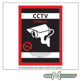 CCTV Camerabewaking Sticker