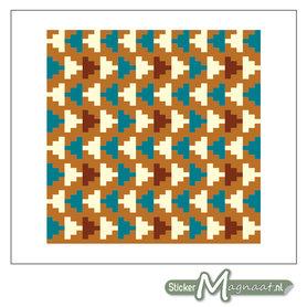 Tegelstickers Azteken Patroon