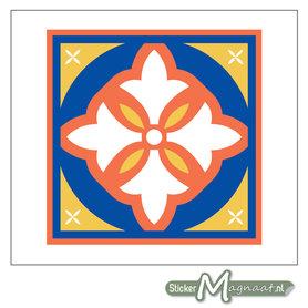 Tegelstickers gekleurd Patroon