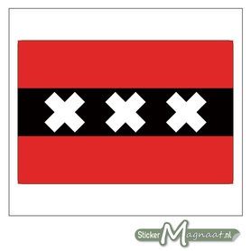 Vlag Amsterdam Stickers