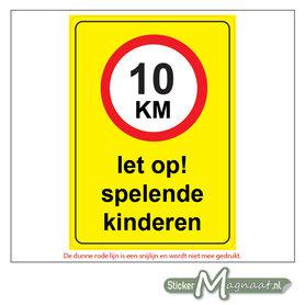10 KM - Let op! Spelende Kinderen - Waarschuwingsstickers