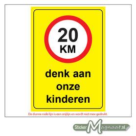 20 KM - Denk aan onze Kinderen - Waarschuwingsstickers