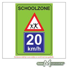 20 KM - Schoolzone - Waarschuwingsstickers
