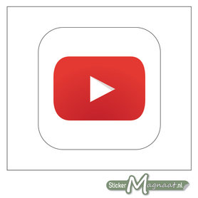 YouTube Logo Sticker