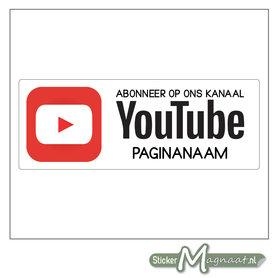 YouTube Stickers met eigen naam