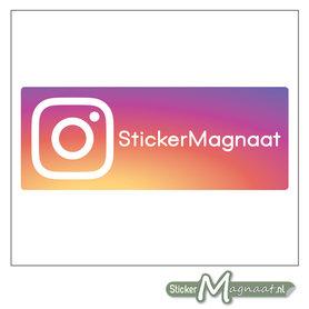Instagram Sticker eigen naam
