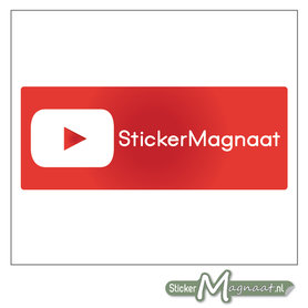 YouTube Sticker eigen naam