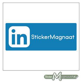 LinkedIn Sticker eigen naam