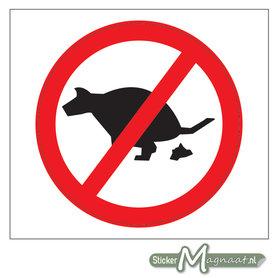 Verboden Honden uit te laten Stickers