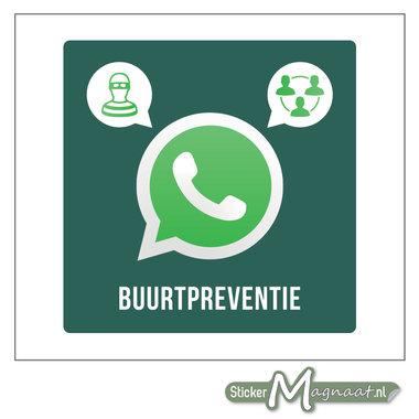 WhatsAppstickers beveiliging buurtpreventie