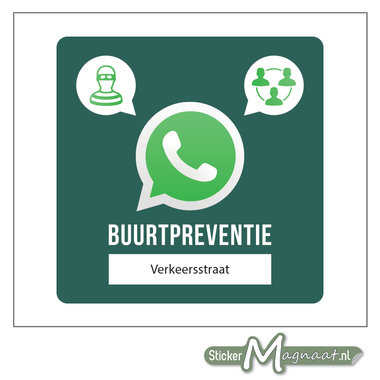 Bord beveiliging buurtpreventie WhatsApp