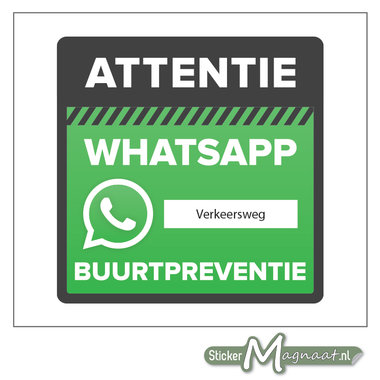 Bord beveiliging WhatsApp wijkpreventie adres