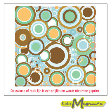 Tegelsticker Kleuren cirkels