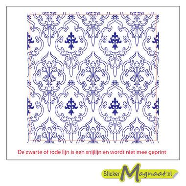Tegelsticker arabisch blauw wit