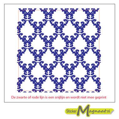 Tegelstickers marokkaans blauw
