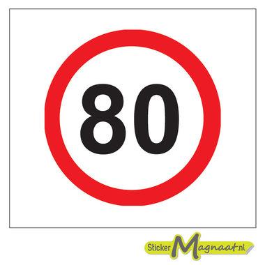 80 KM Bord Stickers