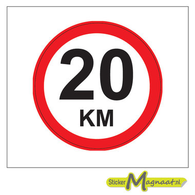20 KM Bord Stickers