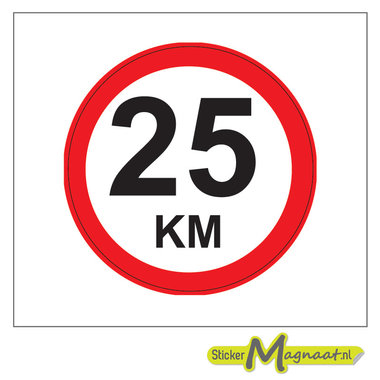 25 KM Bord Stickers