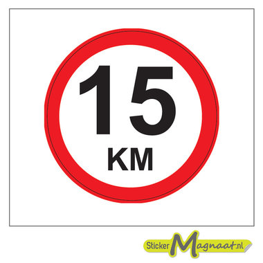 15 KM Bord Stickers
