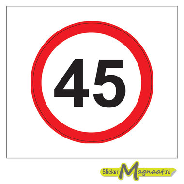 45 KM Bord Stickers