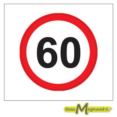 60 KM Bord Stickers