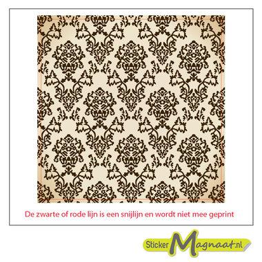 Tegelsticker marokkaans bruin
