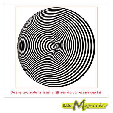 Tegelsticker meerdere cirkels zwart